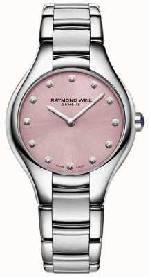 Raymond Weil Womans Noemia 12 diamant roze 5132-ST-80081