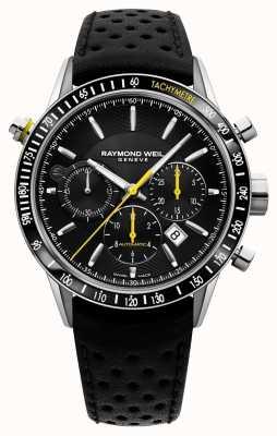 Raymond Weil Mens automatische chronograaf zwart zwart lederen band 7740-SC1-20021