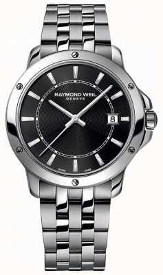Raymond Weil Heren tango roestvrij stalen zwarte wijzerplaat 5591-ST-20001