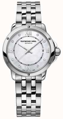 Raymond Weil Dames tangos roestvrij staal dot diamant parelmoer 5391-ST-00995
