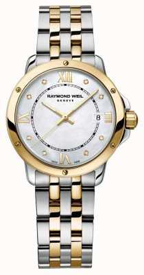 Raymond Weil Dames tango two tone diamond dot parelmoer 5391-STP-00995