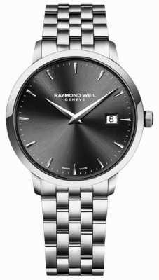 Raymond Weil Mens quartz uurwerk roestvrij staal houtskool wijzerplaat 5488-ST-60001