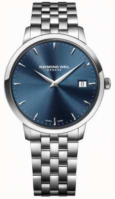 Raymond Weil Mens quartz uurwerk roestvrij staal blauw 5488-ST-50001
