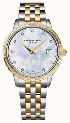 Raymond Weil Dames toccata horloge   tweekleurige roestvrijstalen / pvd band   5988-STP-97081