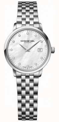 Raymond Weil Womans toccata kwarts roestvrij staal zilveren diamant dot 5988-ST-97081