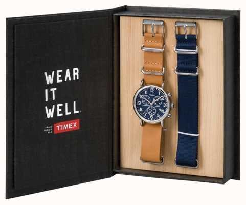 Timex Mens weekender chronograaf gift set TWG012800