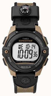 Timex Mens expeditie chronograaf alarm timer bruin TW4B07800