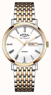 Rotary Gents two tone rose armband GB90155/01