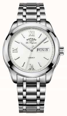 Rotary mannen erfenis dag datum roestvrij stalen armband GB90173/01