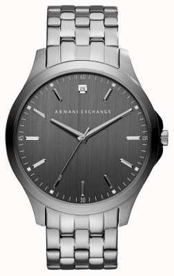 Armani Exchange Mens staalgrijze roestvrij stalen horloge AX2169