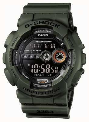 Casio Heren g-shock chronograaf groen GD-100MS-3ER