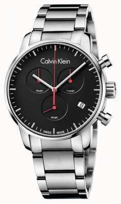 Calvin Klein Mannen stad gepolijst chrono horloge K2G27141