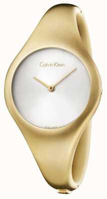 Calvin Klein Dames blote kleine gouden horloge pvd K7G1S516