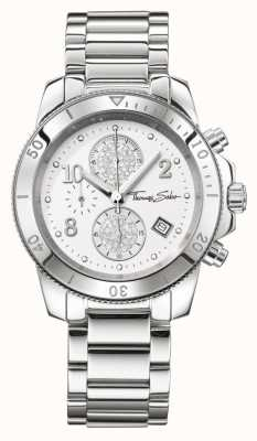 Thomas Sabo Ladies glam chrono chique zilver WA0190-201-202-40