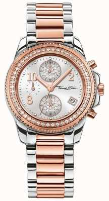 Thomas Sabo Ladies glam chrono roestvrij staal / rose goud WA0241-272-201-33