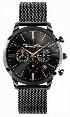 Thomas Sabo Heren rebellengeest chrono | roestvrij stalen gaasband | WA0247-202-203-42