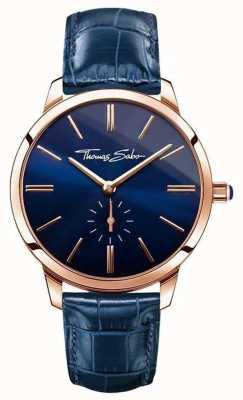 Thomas Sabo Ladies glam geest blauw leer WA0250-270-209-33