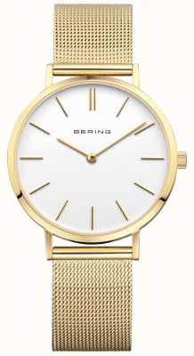 Bering Womens klassieke Milanese gouden horloge 14134-331