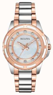 Bulova Dames roestvrij staal / rose goud 98S134