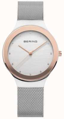 Bering Dames zilver / goud mesh 12934-060