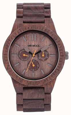 WeWood Mens kappa chocolade houten bruine riem 70315500
