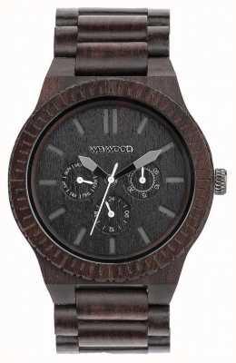 WeWood Heren kappa zwart houten zwarte band 70315300