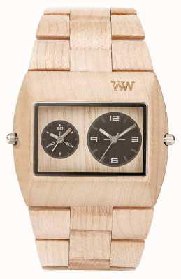 WeWood Mens jupiter rs beige houten strap 70331200