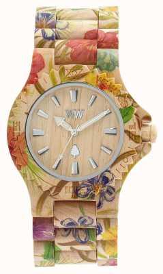 WeWood Womens date bloem beige houten strap 70221200