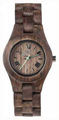 WeWood Womens criss choco ruwe houten strap 70210511