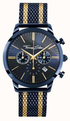 Thomas Sabo Heren rebellengeest chronograaf | stalen gaasband | pvd geval WA0290-286-209-42