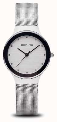 Bering Womans zilveren mesh horloge 12934-000