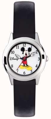 Disney Adult Mickey mouse kids zilveren case zwarte riem MK1314