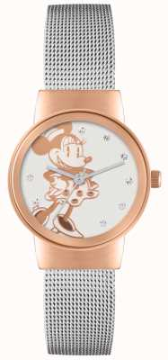 Disney Adult Minnie muis rose gouden zilver mesh band MN1312