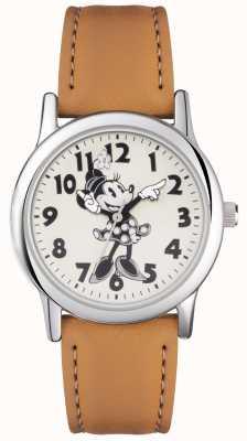 Disney Adult Minnie muis zilveren hoesje tan band MN1550