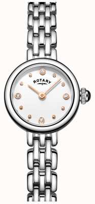 Rotary Womans elegant roestvrij staal cocktail horloge LB05052/02