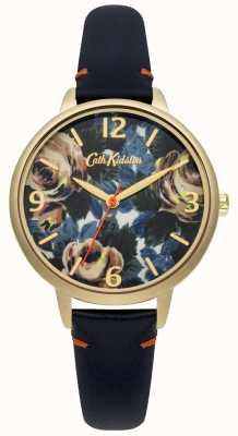 Cath Kidston Ladies diep blauw lederen Oxford nam horloge CKL001UG