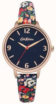 Cath Kidston Mews ditsy navy fabric strap watch CKL002URG