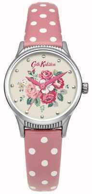 Cath Kidston Ladies bos bos roze spot lederen horloge CKL012PS