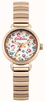 Cath Kidston Rose goud uitbreiding met foto afgedrukt wijzerplaat CKL016RGM
