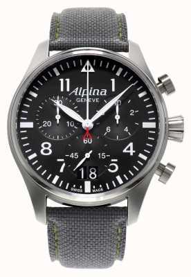 Alpina Mens Startimer piloot chronograaf quartz AL-372B4S6