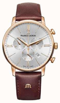 Maurice Lacroix Eliros 40mm herenhorloge bruin lederen rose goud verguld EL1098-PVP01-111-1