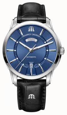 Maurice Lacroix Mens pontos automatisch blauw PT6358-SS001-430-1