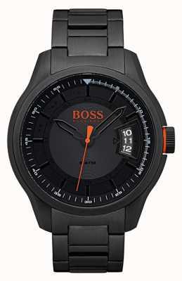 Hugo Boss Orange Hong kong zwarte roestvrijstalen horloge 1550005