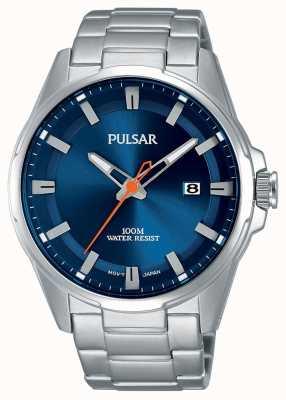 Pulsar Gents roestvrij staal blauw gezicht horloge PS9505X1