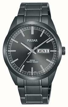 Pulsar Gents grijs roestvrij stalen horloge PJ6075X1