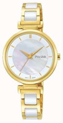 Pulsar Dames vergulde / keramische jurk horloge PH8272X1