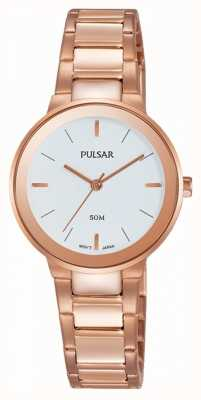 Pulsar Dames rose goud verguld horloge PH8290X1