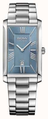 Hugo Boss Heren admiraal roestvrij stalen armband blauwe wijzerplaat 1513438