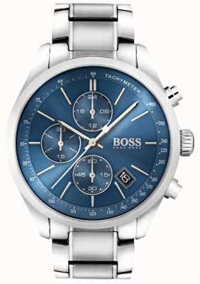Boss Heren grand prix roestvrij staal blauwe wijzerplaat 1513478