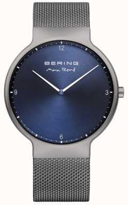 Bering Mannen max rené uitwisselbare mesh band grijs 15540-077